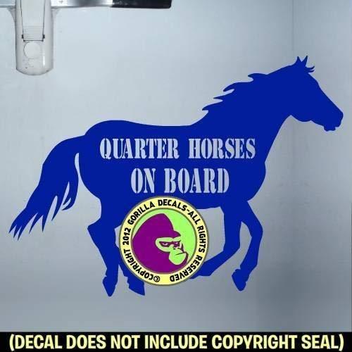 QUARTER HORSES ON BOARD Trailer Vinyl Decal Sticker B