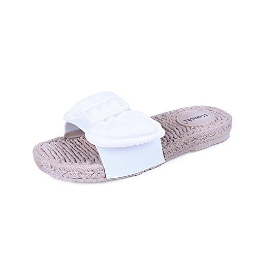 Queena Wheeler Women Sandals Women Flats Shoes Platform Female Slides Beach Flip Flops Summer Shoe White