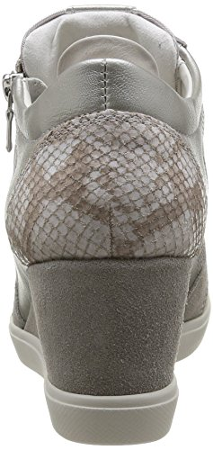 Geox D Eleni B - Zapatillas de Deporte de otras pieles mujer gris - Gris (Lt Grey)