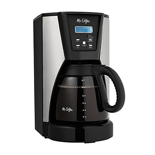 Mr. Coffee 12-Cup Programmable, Fresh Brew, Thermal Coffee maker, Stainless Steel, Includes 1 Month of Water Filtration & 1 Reusable Filter