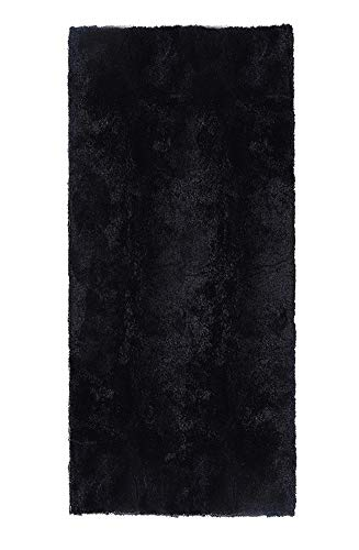 ACTCUT Ultra Soft 4.5 cm Thick Indoor Morden Shaggy Area Rugs Pads, Fashion Color Bedroom Livingroom Sitting-Room[Rugs Blanket Footcloth for Home Decorate Size: 2.5 Feet X 5 Feet (Black)