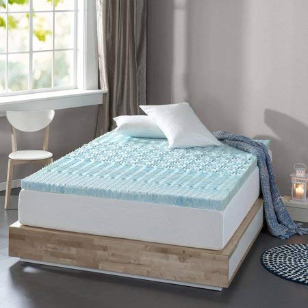 Spa Sensations Zoned Fusion Gel Memory Foam Mattress Topper with an Extra Layer of Cooling, Conforming, Supportive Memory Foam, 3-inch, Queen (Spa Sensations Mattress Topper)