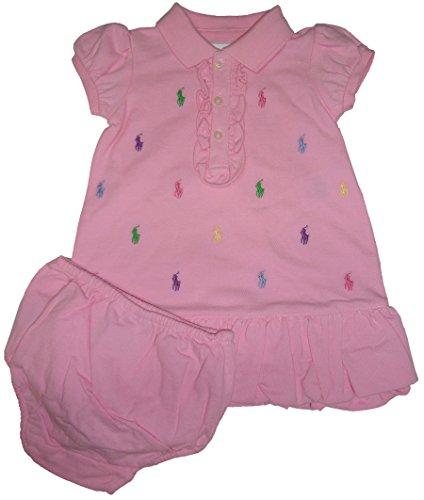 Ralph Lauren Baby Girl's All Over Pony Dress, Pink, 6 M