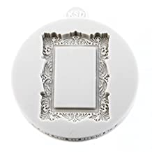 Miniature Frames Vintage Rectangle Cake Embellishment - Silicone Mould For Cake Decorating ,Cupcakes, Sugarcraft And Candies