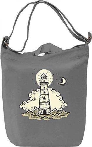 Lighthouse Borsa Giornaliera Canvas Canvas Day Bag| 100% Premium Cotton Canvas| DTG Printing|