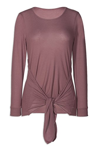 Camille Womens Ex Marks & Spencer Tie Front Mocha Top 10 ()
