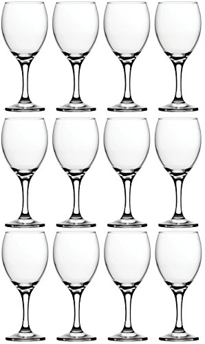 Circleware Savoy Street Huge Set of 12 Wine Glasses, 11.25 ounce Clear Drinking (All Purpose Wine Glass)
