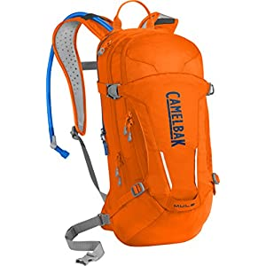 CamelBak M.U.L.E. Crux Reservoir Hydration Pack, Laser Orange /Pitch Blue, 3 L/100 oz