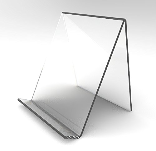 FixtureDisplays Plaxiglass Acrylic Easel Holder with Lip - 8