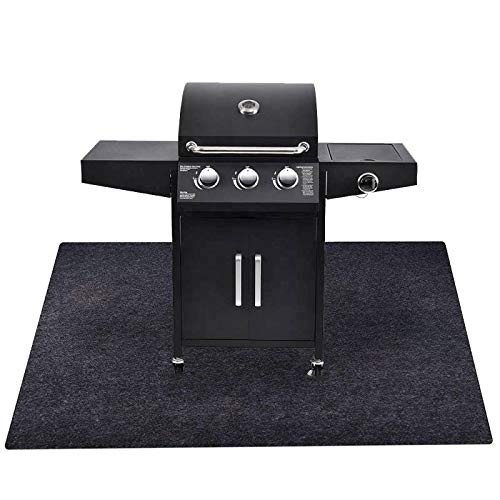 Under The Grill Protective Deck and Patio Mat, 39 x 84.1 inch, Use This Absorbent Grill Pad Floor Mat for BBQ Grilling…