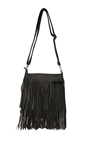 Sml Fringes Style Small on Both Shoulder Sides Faux 1 ghbh Size Soft Tassels GFM With bag Bag Tassel Leather xTOqYYw4