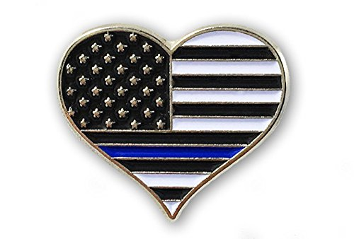 Thin Blue Line Heart - Individual - Line Heart