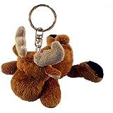Puzzled Moose Plush Keychain