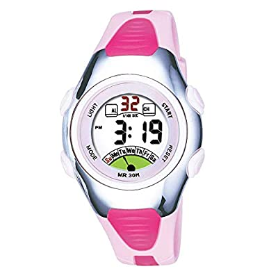 Outdoors Sports Digital Girls Watches Kids Multi Functions Led Water Resistant Wrist Watch for Girls by AZLAND