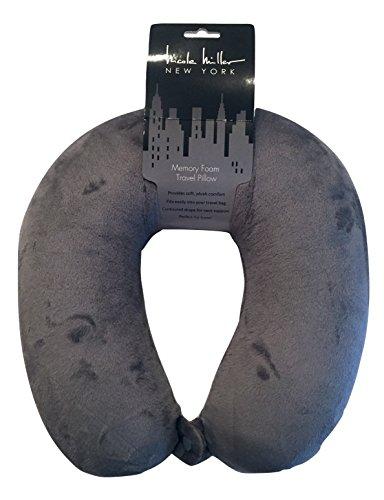 Nicole Miller Memory Foam Neck Support Travel Pillow (Grey)