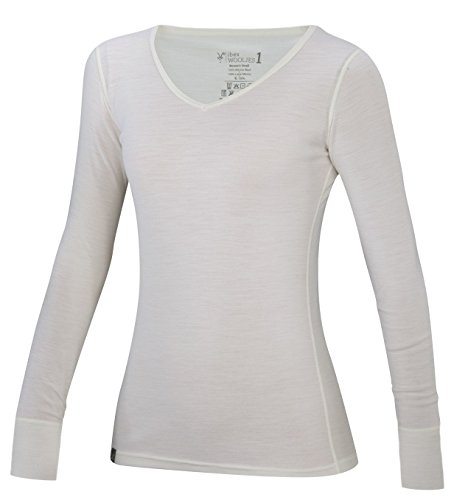 Ibex Outdoor Clothing Merino Wool Woolies 1 V-Neck T-Shirt, Birch, Medium by Ibex