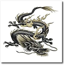 3dRose ht_63149_3 Lucky Dragon-Dragon, Chinese Dragon, Year of Dragon, Chinese New Year-Iron on Heat Transfer Paper for White Material, 10 by 10-Inch