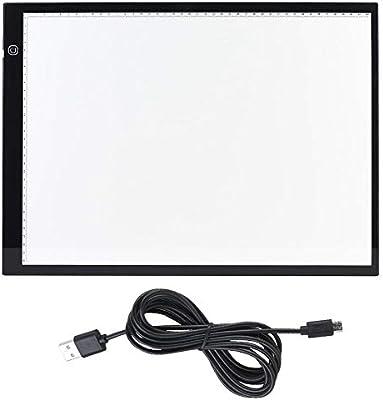 Hilitand Caja de luz A3 Caja de luz LED Ultra-Delgada portátil Tarjeta de Dibujo de luz Tabla de Dibujo de alimentación de luz USB Tablero de copiado 3D: Amazon.es: Hogar