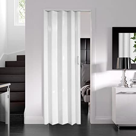 dynasty internal pvc concertina folding door white gloss 6mm thick