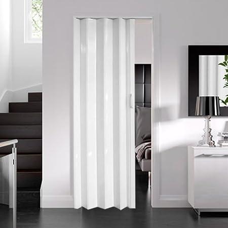 Dynasty Internal PVC Concertina Folding Door White Gloss (6mm Thick ...
