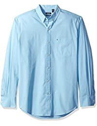 Men's Essential Solid Long Sleeve Shirt (Regular & Slim Fit)