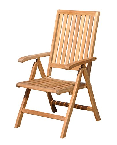 - Courtyard Casual Natural Finish Teak Heritage Outdoor Chair