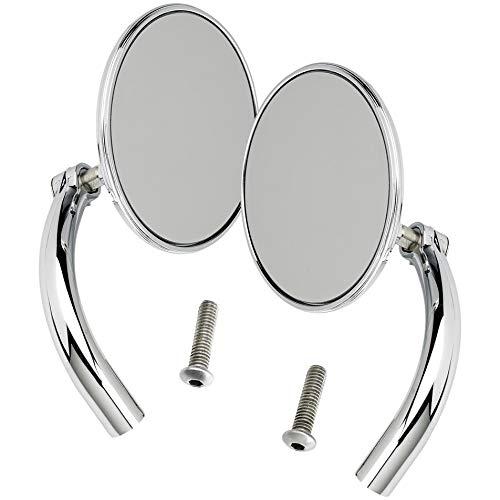Biltwell UP- CIR-HD-CP Round Perch Mount Mirror for H-D (Pair) -Chrome