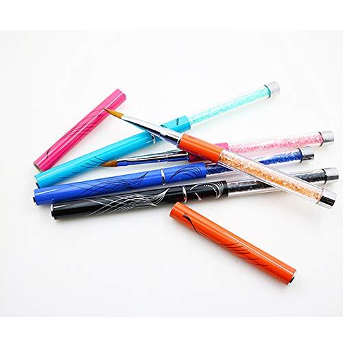 Pinceles de manicura para aplicar Gel UV o Decorar uñas postizas acrílicas Herramienta de DIY Pintura para el Diseño de Uñas con Pluma Transparente(1): ...