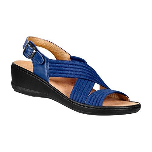 Dames Stretch Sandale, Sandales Avec Stretch Pour La Marine Moulantes Ajustement Parfait