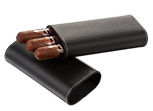 Buy visol vcase705bk eclipse black leather cigar case