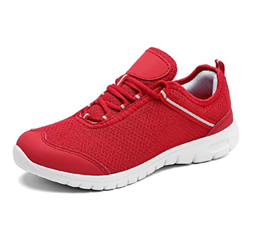 Anti Women's Red Shoes Fitness Shoes Running Trekking Sports Tech Low Gym Travel Climbing Outdoor Air Shock Shoes skid Absorbing Hiking 8qr18UH
