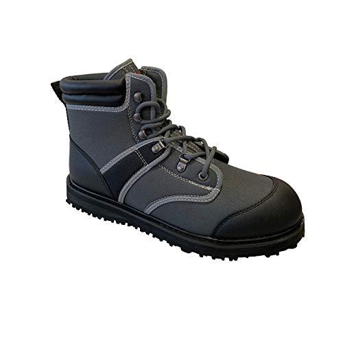 8 Fans Men Women Taupe Wading Boots - Non-Slip Durable Rubber Sole Wading Shoes...
