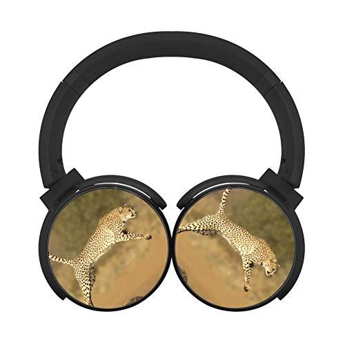 Bluetooth Headphones Cheetah Multicolor Folding Design Wireless Fashion Over Ear, Headsets for Boys Black