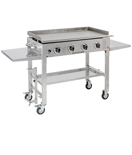 Blackstone 36 inch Stainless Steel Outdoor Cooking Gas Grill Griddle Station (Halloween Party Meal)