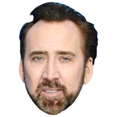 Nicolas Cage (Beard) Celebrity Mask, Card Face and Fancy Dress - Nicolas Cardboard Cage