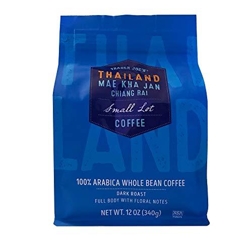 Trader Joe's THAILAND MAE KHA JAN CHIANG RAI Small Lot Whole Bean Coffee 100% Arabica Kosher Pareve Certified (Thailand Dark Roast)