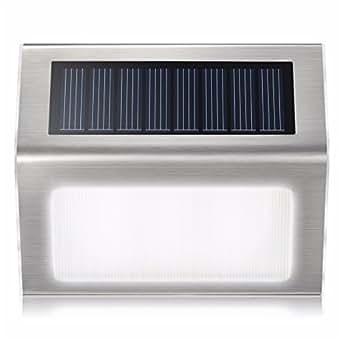 Solar Light for Patio Outdoor Garden Stainless Steel Wireless Waterproof