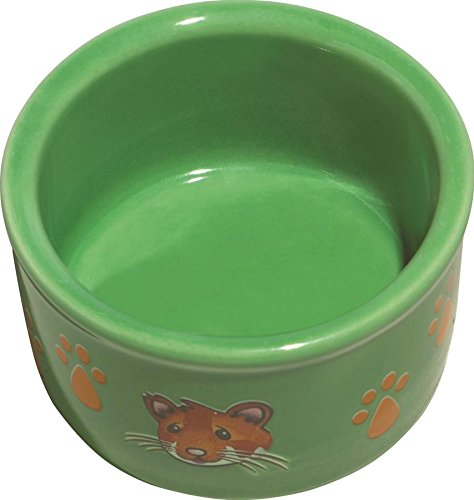 Kaytee Hamster Paw Print Dish, 3 Inch, Colors Vary (Paw Prints Ceramic Bowl)