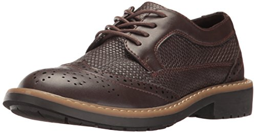 Kenneth Cole REACTION Boys' Take Fair Flat, Chocolate, 1.5 M US Little Kid - Kid Take Flat