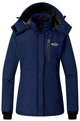 Wantdo Women's Waterproof Ski Jacket Fleece Winter Coat