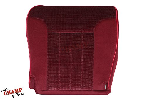 Auto Champ Of Texas 94-96 Dodge Ram 2500 Cummins Diesel 12V-Driver Side Bottom Cloth Seat Cover Red
