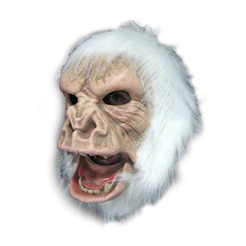 [Albino Gorilla Mask Abominable Snowman Ape Mask] (Snowman Halloween Costumes)