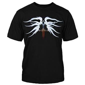 Diablo III Tyrael Men's Short Sleeve Black Tee Shirt Small