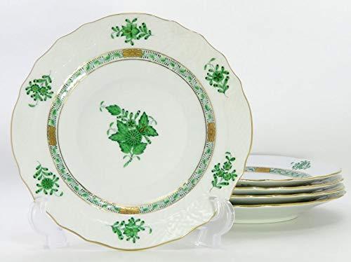 ヘレンド プレート■アポニー グリーン サラダプレート 皿 5枚セット HEREND 1級品   B07RQPHBL3