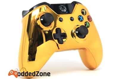 "Amazon.com: ""Gold"" Xbox One Custom UN-MODDED Controller ... Xbox 360 Controller Designs Gold"