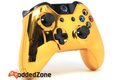 Amazon. Com: xbox one controller piano white & gold custom.