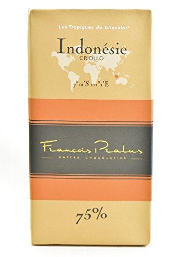 FRANCOIS PRALUS Indonesie Chocolate Bar 75 Pct, 3.5274 OZ