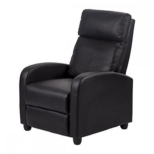 Recliner Chair Modern Leather Chaise Couch Single Accent Recliner Chair Sofa