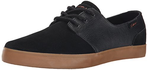 C1RCA Men's Crip Skateboard Shoe, Black/Black/Gum, 9.5 M (C1rca Footwear Sneakers)
