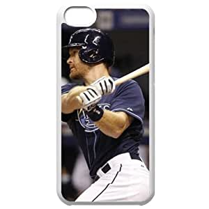 MLB Iphone 5C White Tampa Bay Devil Rays cell phone cases&Gift Holiday&Christmas Gifts NBGH6C9126277